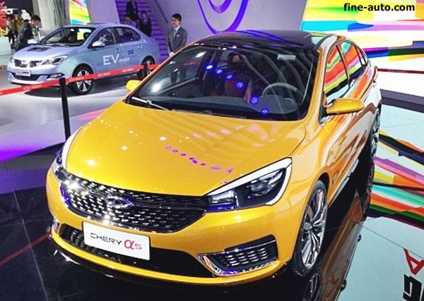 chery-concept 5 yellow